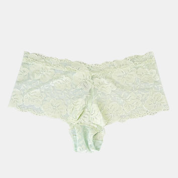 Plus Size Lace Cheeky Boyshorts | Wet Seal Plus