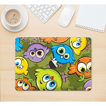 "The Colorful Highlighted Cartoon Birds Skin Kit for the 12"" Apple MacBook"