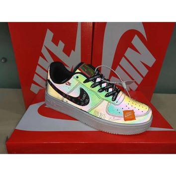 Nike Air Force 1 Low Just Do It Hologram Holographic Inspired