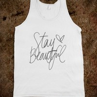 Stay Beautiful-Unisex White Tank