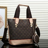 Louis Vuitton women's trendy leather mobile Messenger bag F