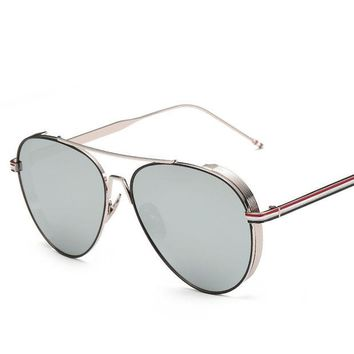 ca DCCKTM4 Metal Mirror Unisex Strong Character Vintage Fashion Sunglasses [10155813191]