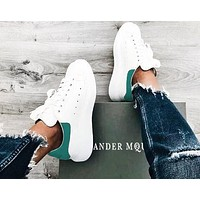 ALEXANDER MCQUEEN Fashion Woman Casual Sneakers Sport Shoes(Velvet Tail) Malachite Green