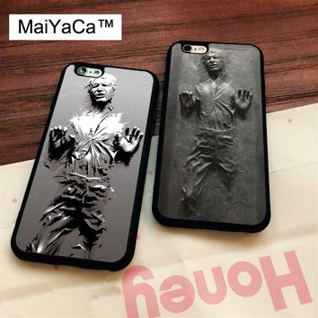Star Wars Force Episode 1 2 3 4 5 MaiYaCa  han solo in carbonite Soft Rubber Phone Cases For iPhone 6 6S 7 8 Plus X 5 5S SE Back Cover Skin Shell Coque AT_72_6