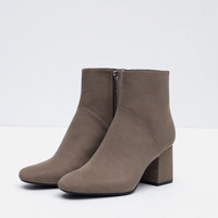 HIGH HEEL POINTED ANKLE BOOTS