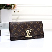 Louis Vuitton LV Trending Women Leather Wallet Purse I-OM-NBPF