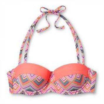 Women's Push Up Halter Bikini Top - Chevron Multi Print - M - Xhilaration™ : Target