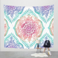 2016 New Summer Large Flower Printed  Round Hippie Tapestry Beach Throw Roundie Mandala Towel Yoga Mat Beach Towel Serviette