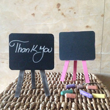 Mini Chalkboard wedding table number,Easel table number,candy bar,chalkboard and easel
