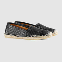 Gucci Microguccissima leather espadrille
