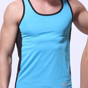 men's fashion stretch milk silk fitness T Shirt  Tops  Basketball T Shirts colorful mesh  tops