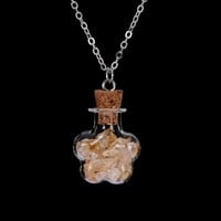 Silver Plated Natural Stone Amethyst Crystal Pendant ~Cylindrical Shaped Bottle Necklaces Citrine 2
