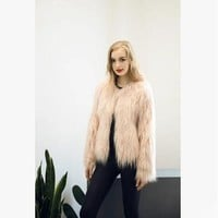 Warm Chic Fluffy Fur Coat