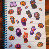 Animal Crossing Spooky Halloween Stickers