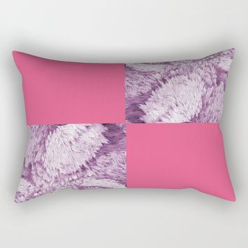 Season of the Square - Symmetry in Light Red Rectangular Pillow by michael jon