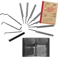 11pc Lock-Pick Set w/ Wallet Carry Case and CIA Maunal