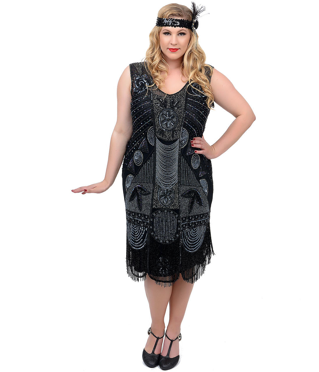 95dede11e4689 Unique Vintage Plus Size 1920s
