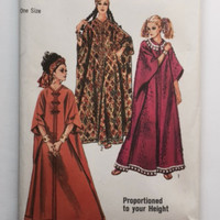 Simplicity 8354 Sewing Pattern Caftan Long Dress Robe Womens Misses One Size New Uncut Vintage