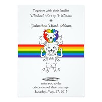 b035f70c Lion Rainbow Gay Pride Wedding Invitation. Gay Pride Supporters Design  Cartoon Banana Tie