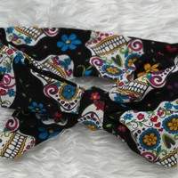 Sugar Skull Head Wrap