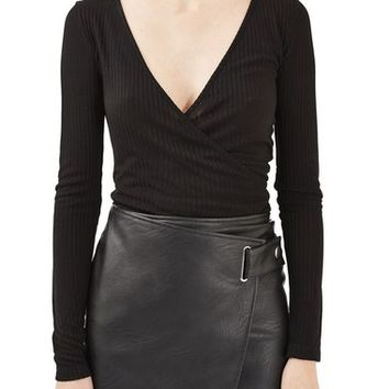 Topshop Boutique Ballerina Wrap Top | Nordstrom