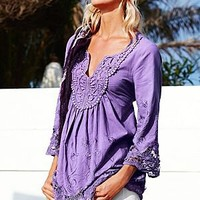 Embroidered cotton tunic by VENUS