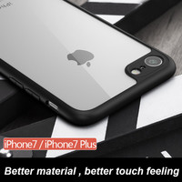 Newest 100% original high-end 0.28mm transparant silicon case for iphone 7 (4.7'') for iphone7 plus (5.5'')-Girllove100
