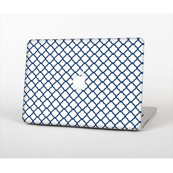 The Navy & White Seamless Morocan Pattern V2 Skin Set for the Apple MacBook Air 11""