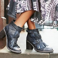 FP Collection Womens Circle Back Heel Boot