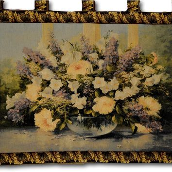 Tache 33 X 24 Inch Flowering Bouquet Floral Tapestry Wall Hanging (WH-13021)