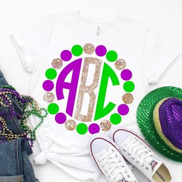 mardi gras monogram svg,mardi gras tshirt,Monogram Beads svg,spring svg,mardis gras svg,girly svg,printable iron on transfer,girlie svg