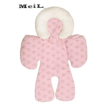 MEIL Multicolor cotton baby stroller baby car seat head body protection mat