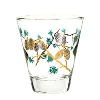 David Douglas Pinecone Whiskey Glasses, Mid-Century, Set of 5