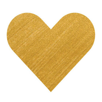 Gold Pop Heart Print - Gold Hearts - Gold Brush - Modern Art Print