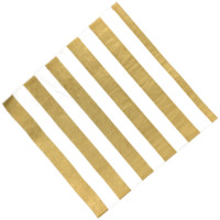 "Party Paper Napkins 6.5"" 20pcs Striped Gold"
