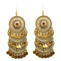 Dangling Coin Chandelier Earrings