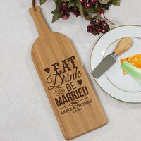 Engraved Be Married Wine Bottle Cutting Board