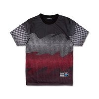 Waves Halftone Tee in Black – Pink+Dolphin