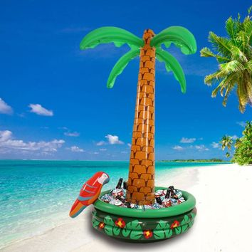 180cm Giant Inflatable Palm Tree With Parrot Cooler Ice Bucket Pool Party Decor 2018 Summer Beach Toys Drink Holders Box Balloon