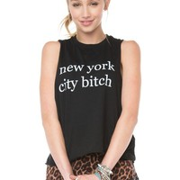 Brandy ♥ Melville |  New York City Bitch Tank - Just In