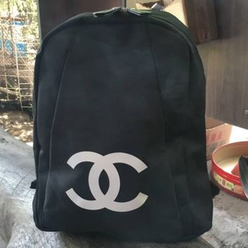 CHANEL New shopping bag black waterproof cloth bag thick and simple outside receiving bag