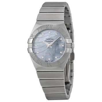 Omega Constellation Mother of Pearl Dial Ladies Watch 12310276057001