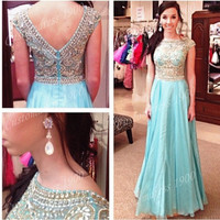 long  prom dress Floor length Chiffon beading prom dresses evening dresses party dresses bridesmaid dress homecoming dress prom i