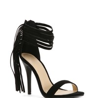 Sale- Black Wing Girl Fringe Heels