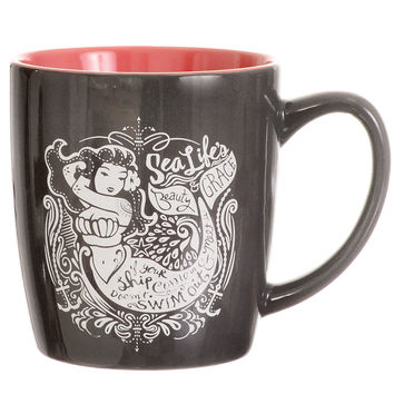 Notes From a Nautical Nymph Mermaid Mug