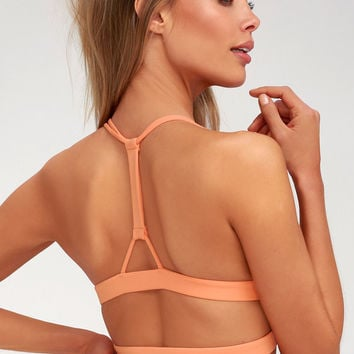 No Stitch In Time Peach Sports Bra