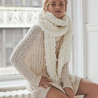 Free People Womens Cable Open Back Sweater