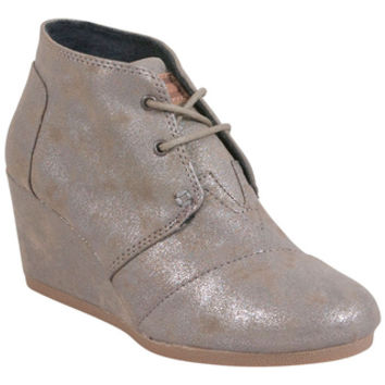 toms synthetic leather desert wedge from infinity shoes