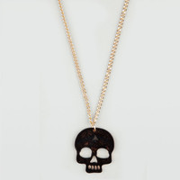Full Tilt Multicolored Skull Pendant Necklace Gold One Size For Women 19762062101