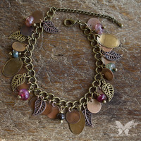 Leaf & Agate Gypsy Bracelet from A Single Dream